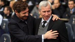 Alan pardew and AVB beofre yesterdays game