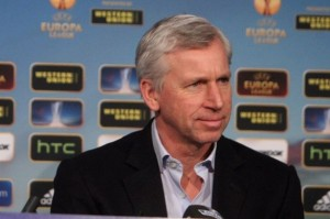 alan pardew - prewss conf for Metalist