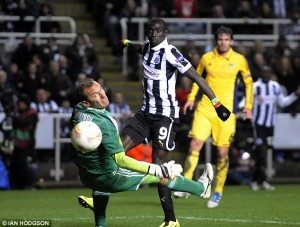 papiss cisse scores his second
