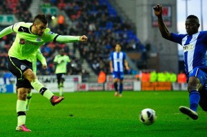 davide santon scoring ncle gopal at wigan