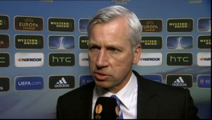 alan pardew after benfica game at home