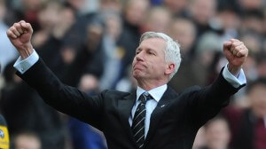 alan pardew final whistle fulham 1-0 win