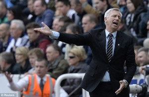 alan pardew in pain