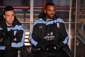 Darren Bent on bench