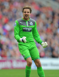tim krul in action at cardiff