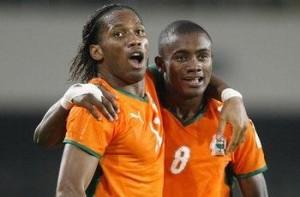 drogba kalou celbrate ast minute equalizer Senegal