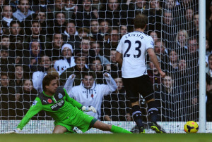 tim krul saves with left foot