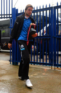 tim krul arriving at selhurst park