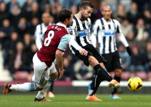 yohan cabaye scoring west ham