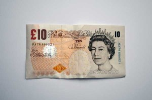 UK pound note
