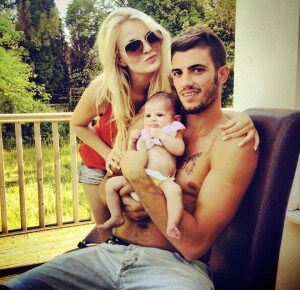davide santon girlfrined and babay