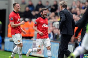 juan mata after scoring first goal