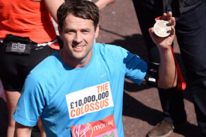 Michael Owen London marathon