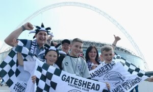 gateshead fans at wembley