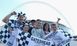 gateshead fans at wembley