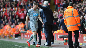 paul dummett send off liverpool