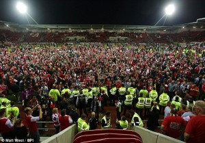 pitch invasion rotherham