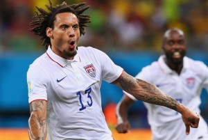 jermaine jones after scoring sesnational goal