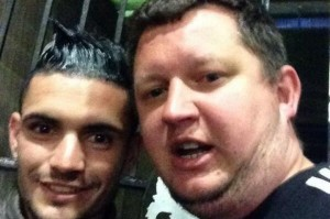 remy cabella with twitter fan Martin Trinder