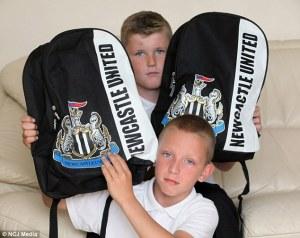 NUFC schoolbags