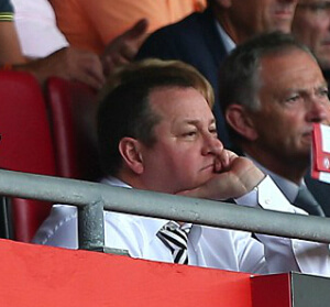 mike ashley glum st mary's CLOSE