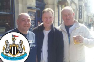 Darren-White-pal-Tony-and-Bobby-Huntington-NUFC-fans-from-Peterlee