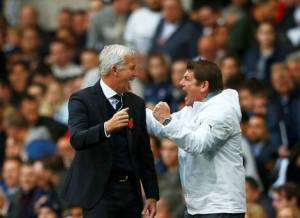 alan pardew john carver winning at spurs