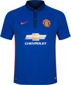 manchester united third kit is blue