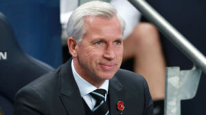 alan pardew on Saturday at west brom