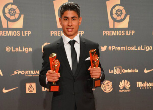 ayoze perez with two awards