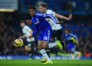 Loic Remy before scoring against spurs