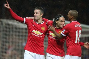 Robin van Persie after scoring 3rd goal