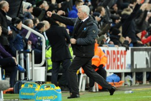 alan pardew after cisse goal