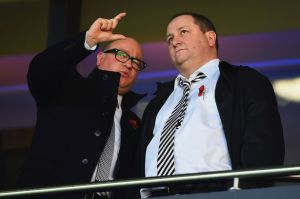 lee charnley and mike ashley before wba game