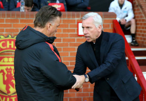 Louis van Gaal and Alan Pardew