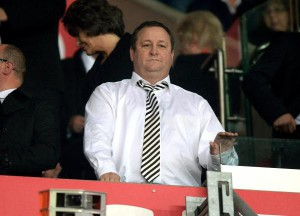 Mike Ashley at Stoke