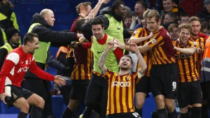bradford city after win at Chslea