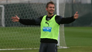 siem de jong - good shot of him in training