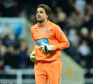 tim krul ornage newcastle strip