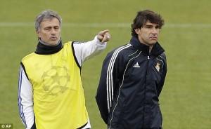 Aitor Kranaka with Jose Mouinho at Real Madrid