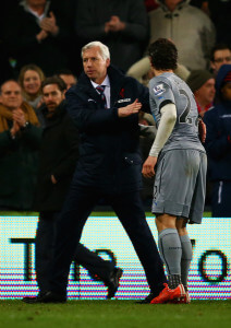 Daryl Janmaat and Alan Pardew Crystal+Palace