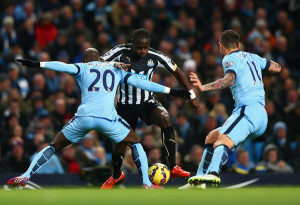 moussa sissoko in action at city 5-0