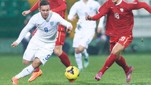 Under-18 soccer match - Poland v England
