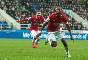 ashley young after scoring gifted goal