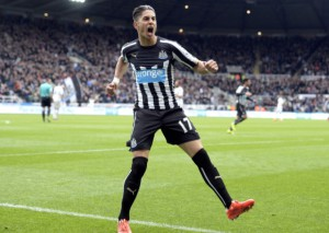 ayoze perez after scoring the first goal
