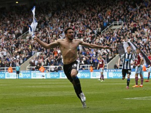 jonas gutierrez after scoring west ham