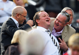 mike ashley at today's game