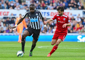 moussa sissoko in aciton against west brom