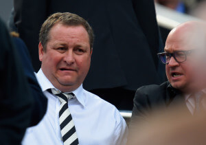 worried looking mike ashley yesterday