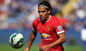 radamel falcao while ayt Man U